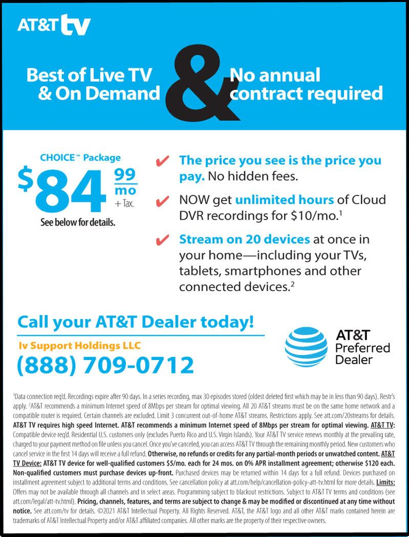 AT & T tv June