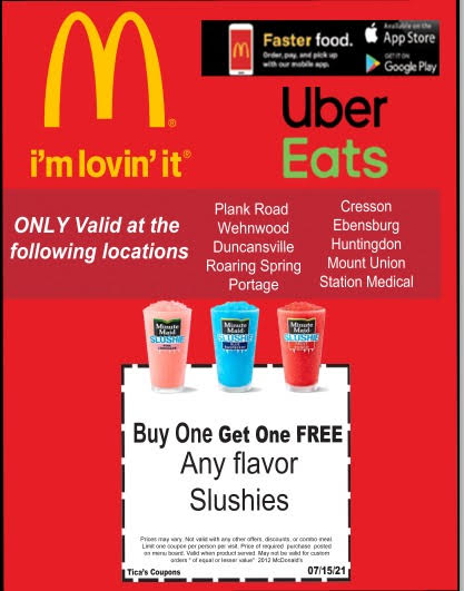 McDonalds deal of the month June