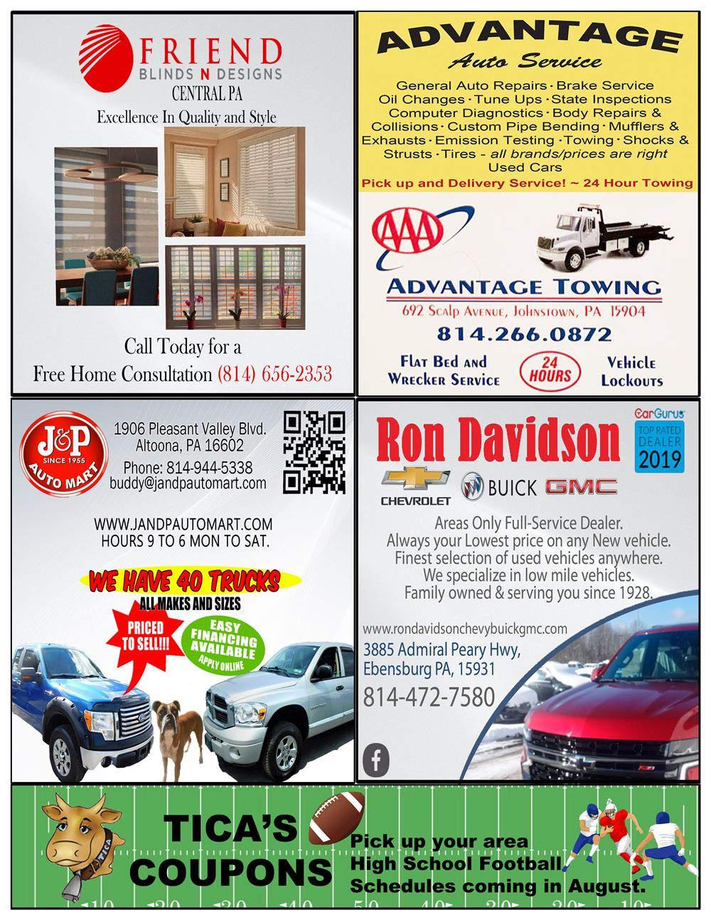 Johnstown coupon book back cover Aug 21