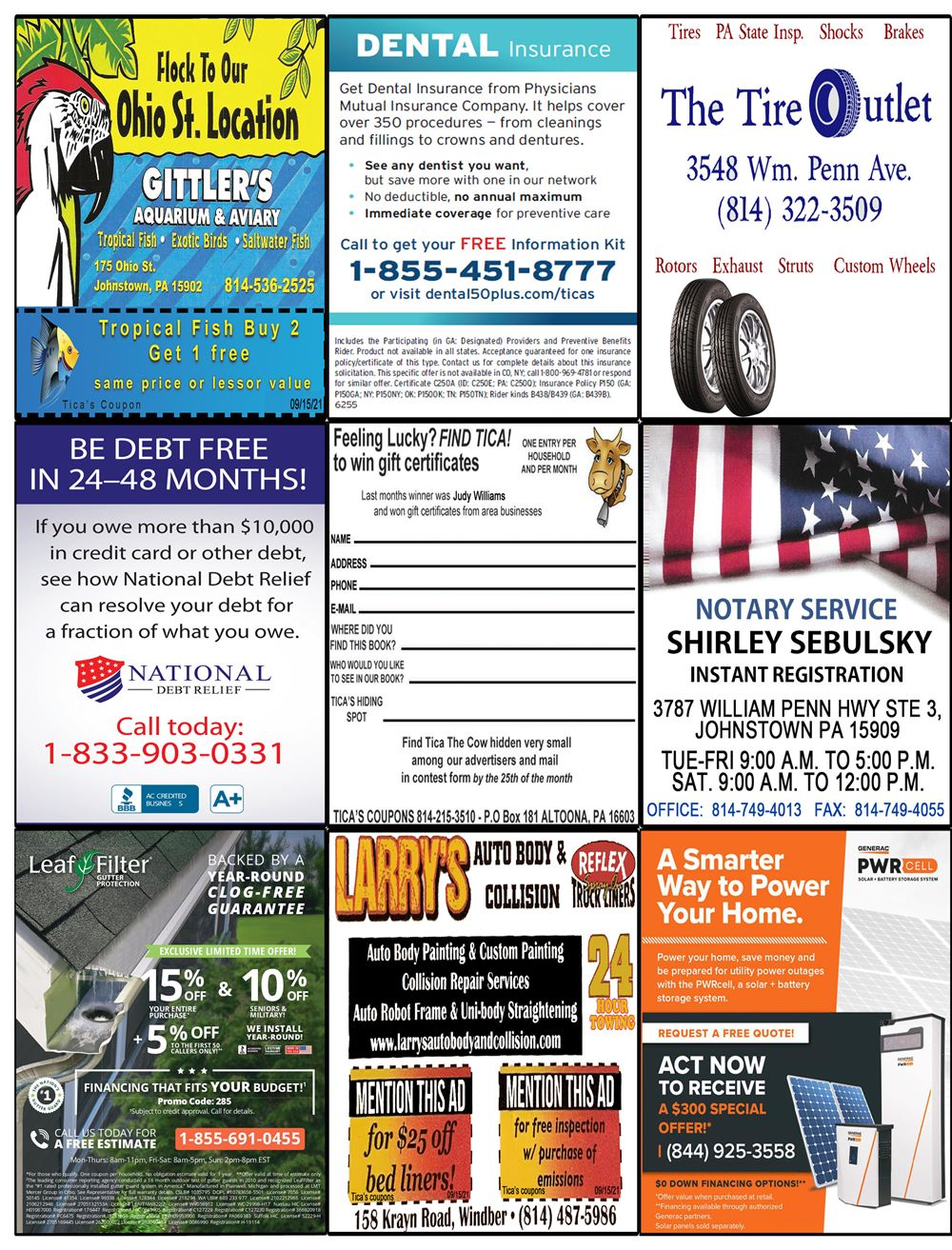 Johnstown coupon book pg 2 Aug 21