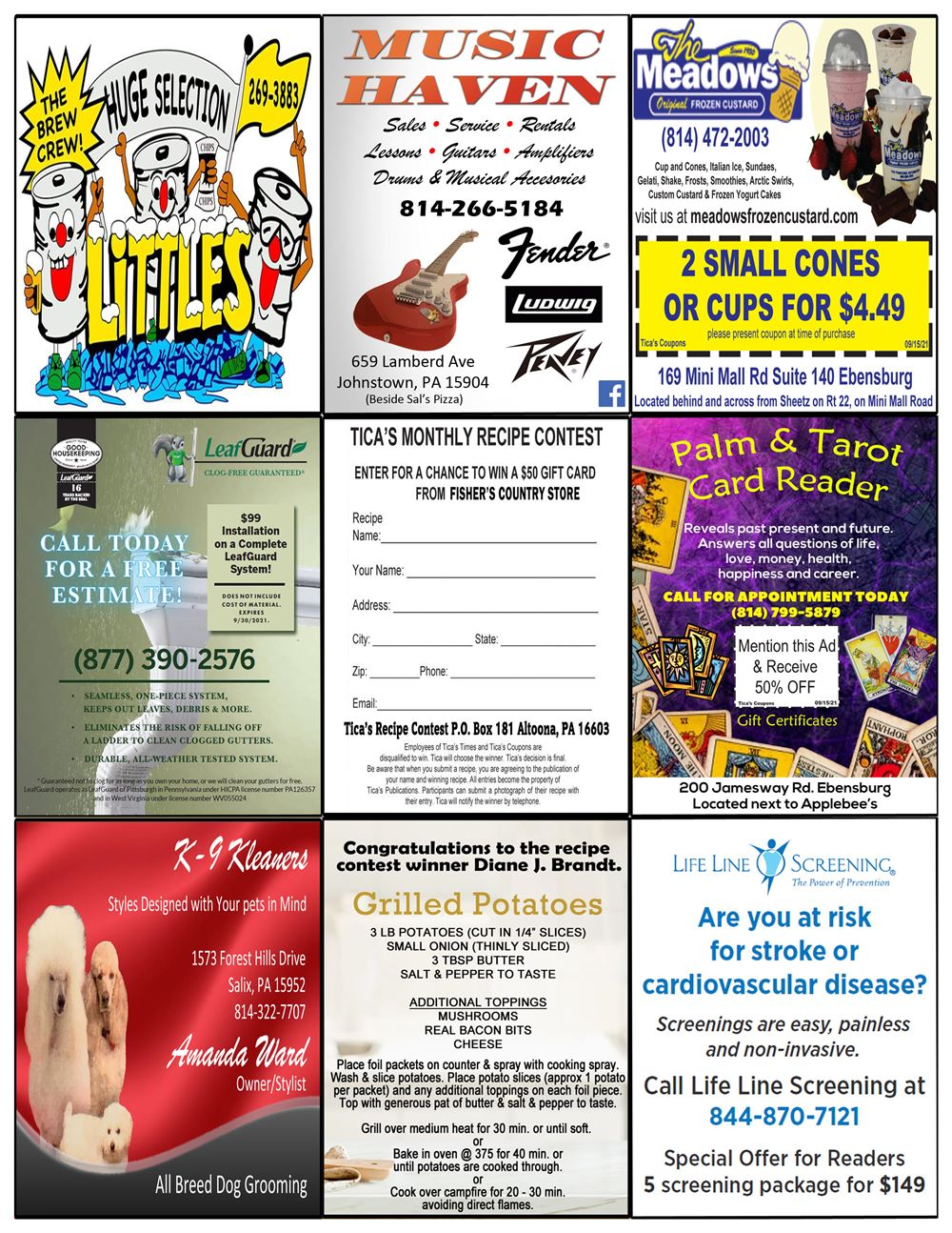 Johnstown coupon book pg 3 Aug 21