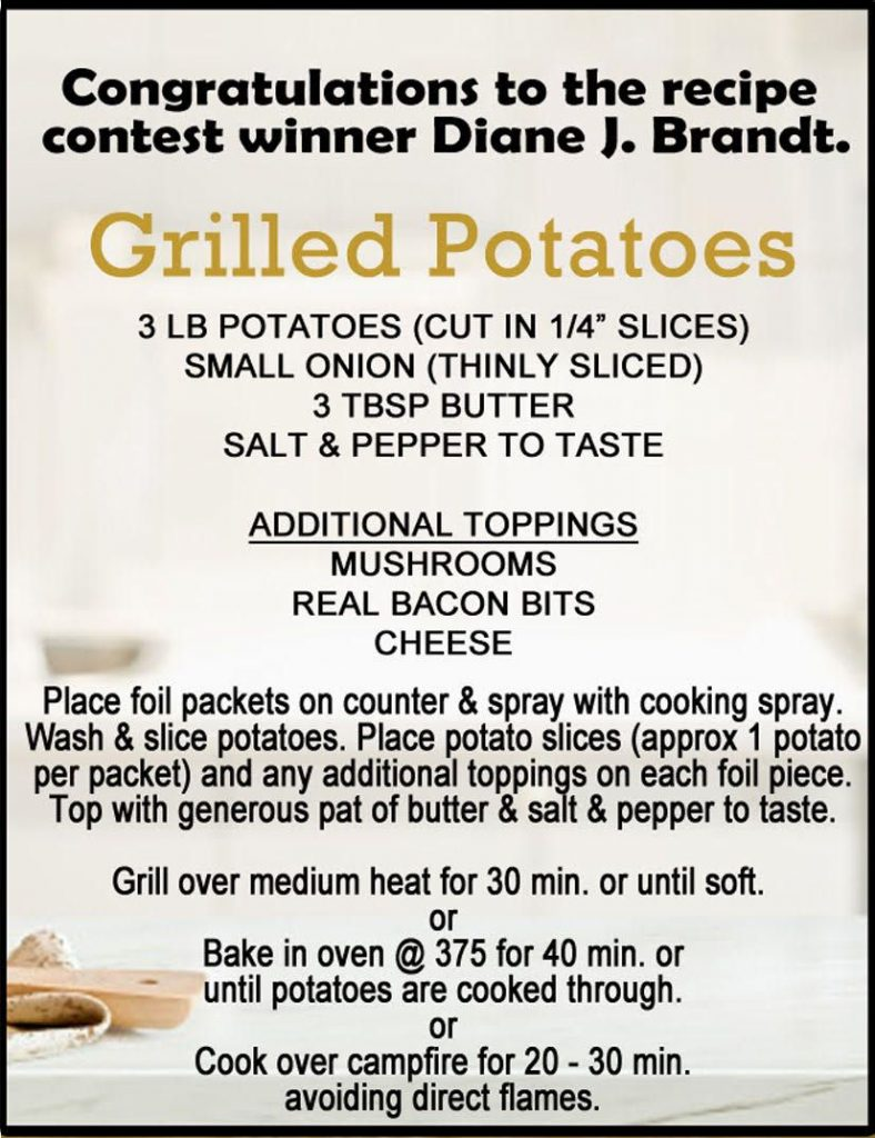 recipe of month August